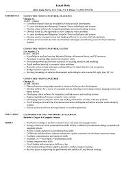 Resume For Computer Job Computer Vision Engineer Resume Samples Velvet Jobs 44