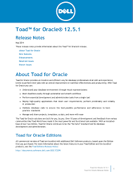 toad for oracle release notes