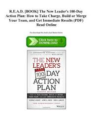 Action Plan In Pdf Impressive READ [BOOK] The New Leader's 48Day Action Plan How To Take