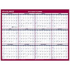 At A Glance Yearly Calendars