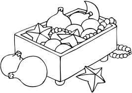 Small Picture Christmas Ornaments in a Box coloring page Free Printable