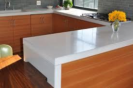 thick white concrete counters