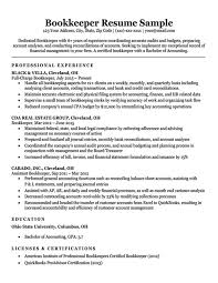 Accounting Firm Resumes Bookkeeper Resume Sample Writing Tips Resume Companion