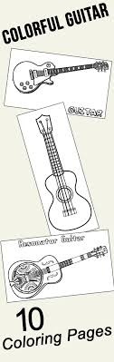 10 Colorful Guitar Coloring Pages For