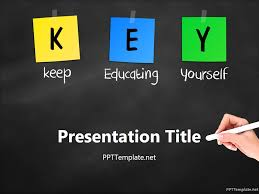 Powerpoint Backgrounds Educational Free Key Chalk Hand Ppt Template