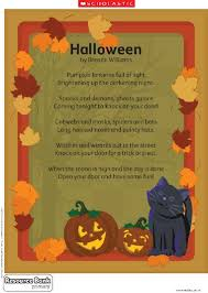 halloween poem primary ks teaching resource scholastic click to