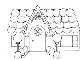 Small Picture Gingerbread House with so Many Balloons Coloring Page images