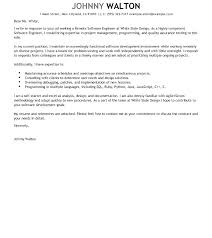 Brilliant Ideas Of Cover Letter Software Engineer Sample Cover