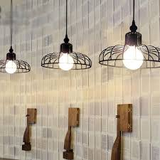 wrought iron ceiling lamp cafe pendent lamp bedroom aisle chandelier bulbs
