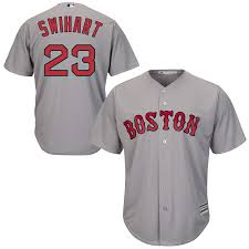 Gray Road Cool Base Player Sox Majestic Red Boston Blake Swihart Jersey Men's