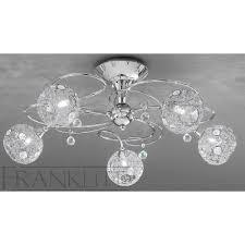 franklite fl2214 5 orion chrome 5 light flush ceiling light
