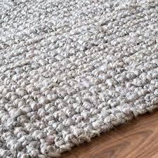 handmade natural fiber chunky loop jute grey rug x nuloom contemporary abstract