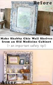 DIY Wall Shelves from an Old Medicine Cabinet