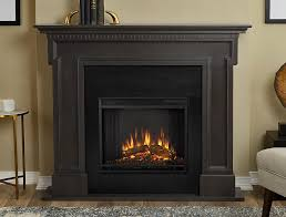 thayer electric fireplace mantel package in grey 5010e gry