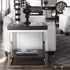 LUXE Designer Black & Chrome Side Table Courtesy of InStyle-Decor.com  Beverly Hills