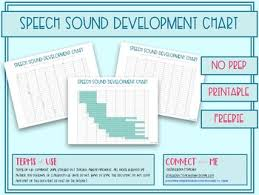 Speech Sounds Development Chart Speech Sounds Of Development Chart By Stressed Out Teacher Tpt