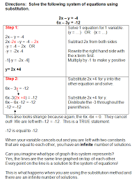 systems of equations substitution method worksheet using the substitution method to solve systems of equations free