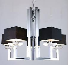 square chandelier lighting stunning black modern crystal chandeliers white wall four light hinging cleveland playhouse