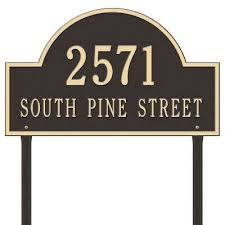 open house signs home depot. Address Plaques Home Depot Arch Marker Estate Lawn 2 Line Plaque Bronze Gold Whitehall Open House Signs D
