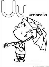 Small Picture Tter U Coloring Page Umbrella Coloring Page Free Alphabets