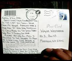 "into the wild ""the last postcard chris mccandless sent to his friend wayne westerberg """