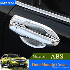 qcbxyyxh abs car styling for honda crv cr v 2018 2018 car door handle cover box sequins decoration handle bowl frame sequins auto parts whole automobile