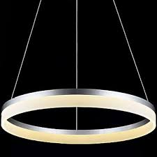 round led pendant light modern acrylic lamps lighting