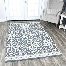 blue and grey area rug home blue grey wool hand tufted medallion area rug blue gray