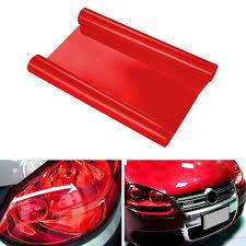 Car Light Film Us 2 6 8 Off 30cmx100cm Car Headlight Sticker Film Taillight Lamp Film Vinyl Tinting Film For Passat B6 B7 Golf Focus 2 A6 C6 W212 E39 Red In Car