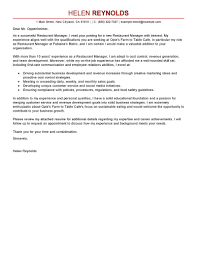 Best Restaurant Manager Cover Letter Examples Bunch Ideas Of Sample