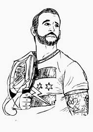 Printable Wwe Coloring Pages For Adults Isaacs Stuff Wwe