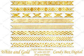 gold ribbon border white and gold border ribbons objects creative market