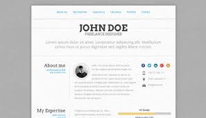 Online Resume Website Best 28 Creative Resume Website Templates To Improve Your Online Presence