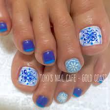 タイル柄フットネイル Toki Nails Gold Coast
