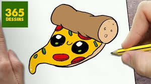 Comment Dessiner Pizza Kawaii Tape Par Tape Dessins Kawaii