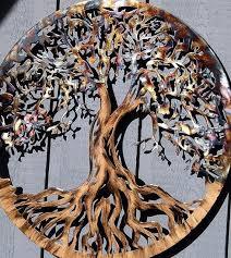 large metal wall art tree of life by humdingerdesigns