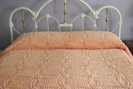 chenille peach bedspread