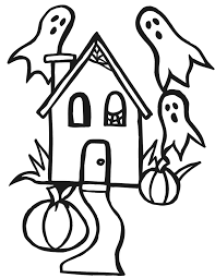 Small Picture Haunted House Coloring Page Cartoonish Haunted House