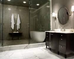 Contemporary freestanding bathtub idea in Dallas