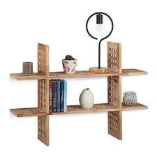 relaxdays hanging shelf floating shelf