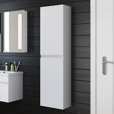 White Bathroom Cabinets Wall Bathroom Cabinet 1400x350 White Storage Wall Mounted Hung Side