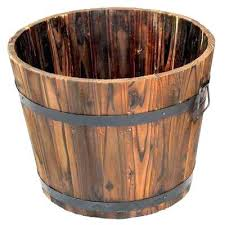 extra large wooden whiskey barrel planter planters boxes uk n