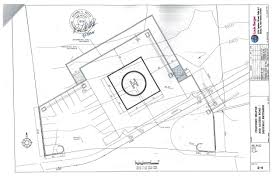 A page from a september 2015 application to construct a helipad in arroyo hondo showing design