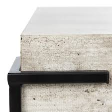 Shop our best selection of safavieh coffee tables to reflect your style and inspire your home. Safavieh Eli 31 5 In Light Gray Faux Concrete Black Square Wood Coffee Table Cof4200a The Home Depot