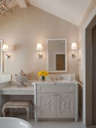 majestic circa lighting sconces with dressing table alongside with vanity and towel ring