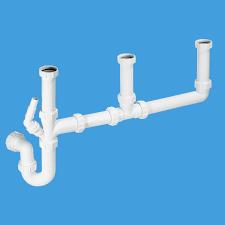 mcalpine 3 bowl kitchen sink waste trap kit sk3 40004020 plumbers mate ltd