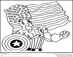 Small Picture Coloring Pages American Coloring Pages Printable Captain America