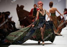 Designer Anne Avantie Model Presents Creation By Indonesian Designer Anne