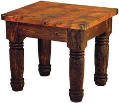 mexican copper inlaid farmhouse end table