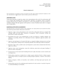 Police Officer Job Description For Resume Police Officer Job Description For Resume Resume For Study 39